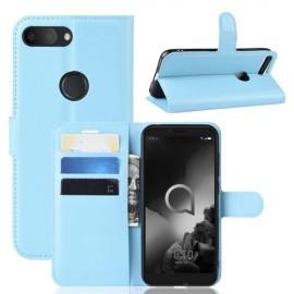 Book Case Alcatel 1S (2019) Hoesje - Lichtblauw