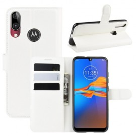 Book Case Motorola Moto E6 Plus Hoesje - Wit