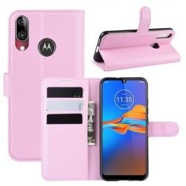Book Case Motorola Moto E6 Plus Hoesje - Pink