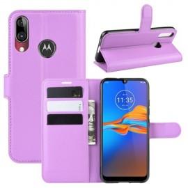 Book Case Motorola Moto E6 Plus Hoesje - Paars