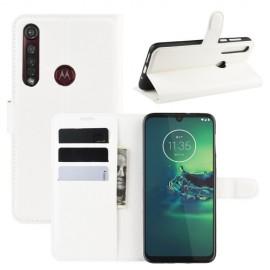 Book Case Motorola Moto G8 Plus Hoesje - Wit