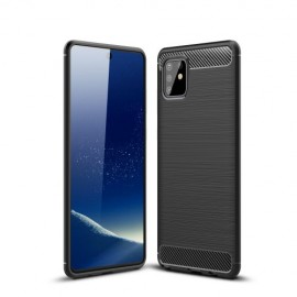 Armor Brushed TPU Samsung Galaxy Note 10 Lite Hoesje - Zwart