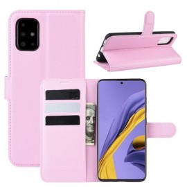 Book Case Samsung Galaxy A51 Hoesje - Pink