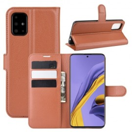 Book Case Samsung Galaxy A51 Hoesje - Bruin