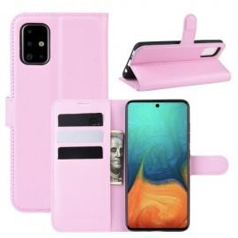 Book Case Samsung Galaxy A71 Hoesje - Pink
