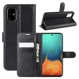Book Case Samsung Galaxy A71 Hoesje - Zwart