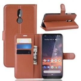 Book Case Nokia 3.2 Hoesje - Bruin