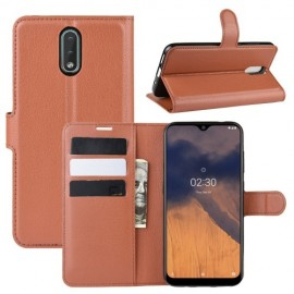 Book Case Nokia 2.3 Hoesje - Bruin