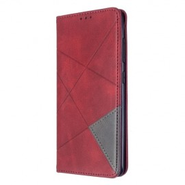 Geometric Book Case Samsung Galaxy A51 Hoesje - Rood
