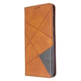 Geometric Book Case Samsung Galaxy A51 Hoesje - Bruin