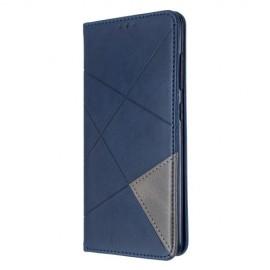Geometric Book Case Samsung Galaxy A51 Hoesje - Blauw