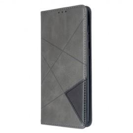 Geometric Book Case Samsung Galaxy A71 Hoesje - Grijs
