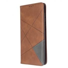 Geometric Book Case Samsung Galaxy A71 Hoesje - Donkerbruin