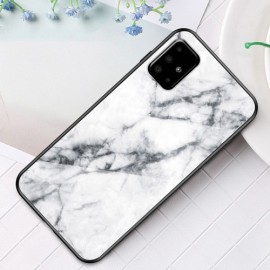 Marble Glass Cover Samsung Galaxy A51 Hoesje