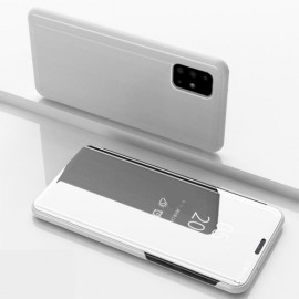 Mirror View Case Samsung Galaxy A71 Hoesje - Zilver