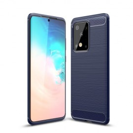 Armor Brushed TPU Samsung Galaxy S20 Ultra Hoesje - Donkerblauw