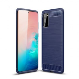 Armor Brushed TPU Samsung Galaxy S20 Hoesje - Blauw