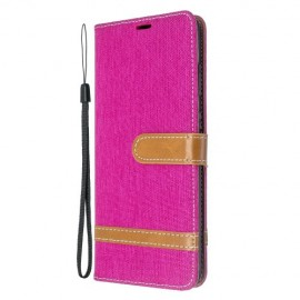 Denim Book Case Samsung Galaxy S20 Plus Hoesje - Roze