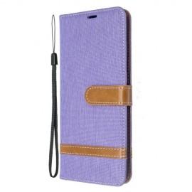 Denim Book Case Samsung Galaxy S20 Plus Hoesje - Lila