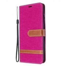 Denim Book Case Xiaomi Mi Note 10 Hoesje - Roze
