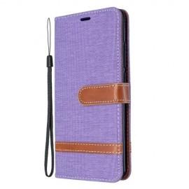 Denim Book Case Xiaomi Mi Note 10 Hoesje - Lila