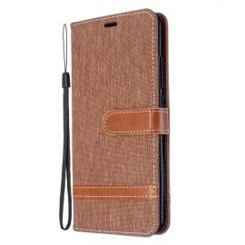 Denim Book Case Xiaomi Mi Note 10 Hoesje - Bruin