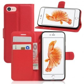 Book Case iPhone 8 / 7 Hoesje - Rood
