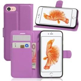 Book Case iPhone 8 / 7 Hoesje - Paars