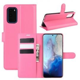 Book Case Samsung Galaxy S20 Hoesje - Roze