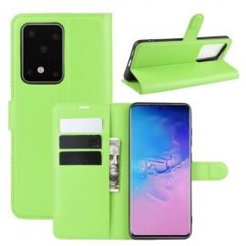 Book Case Samsung Galaxy S20 Ultra Hoesje - Groen