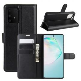 Book Case Samsung Galaxy S10 Lite Hoesje - Zwart