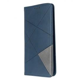 Geometric Book Case Samsung Galaxy S20 Hoesje - Blauw