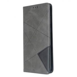 Geometric Book Case Samsung Galaxy S20 Plus Hoesje - Grijs