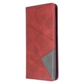 Geometric Book Case Samsung Galaxy S20 Plus Hoesje - Rood