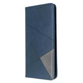 Geometric Book Case Samsung Galaxy S20 Plus Hoesje - Donkerblauw