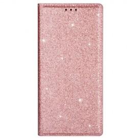 Book Case Glitter Samsung Galaxy S20 Hoesje - Rose Gold