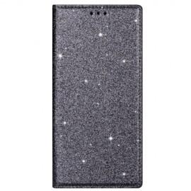 Book Case Glitter Samsung Galaxy S20 Hoesje - Grijs