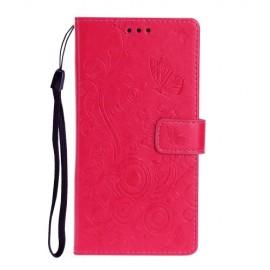 Vlinder Book Case Xiaomi Mi Note 10 Hoesje - Roze