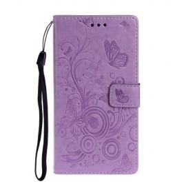 Vlinder Book Case Xiaomi Mi Note 10 Hoesje - Paars