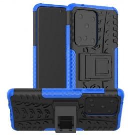 Rugged Kickstand Samsung Galaxy S20 Ultra Hoesje - Blauw