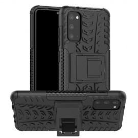 Rugged Kickstand Samsung Galaxy S20 Hoesje - Zwart