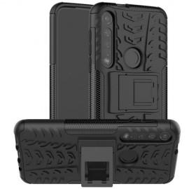 Rugged Kickstand Motorola Moto G8 Plus Hoesje - Zwart