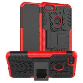 Rugged Kickstand Motorola Moto E6 Play Hoesje - Rood