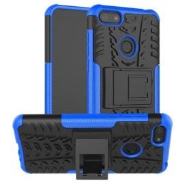 Rugged Kickstand Motorola Moto E6 Play Hoesje - Blauw