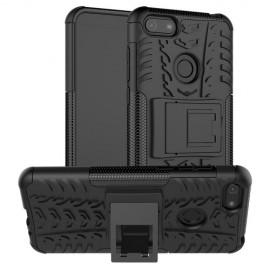Rugged Kickstand Motorola Moto E6 Play Hoesje - Zwart