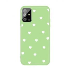 Hartjes TPU Samsung Galaxy S20 Plus Hoesje - Groen