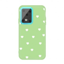 Hartjes TPU Samsung Galaxy S20 Ultra Hoesje - Groen