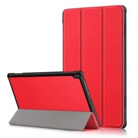Tri-Fold Book Case Lenovo Tab M10 Hoesje - Rood