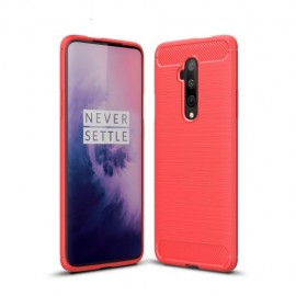 Armor Brushed TPU OnePlus 7T Pro Hoesje - Rood