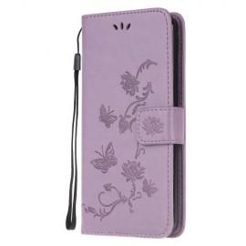 Bloemen Book Case Huawei P40 Lite Hoesje - Paars